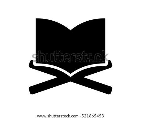 Quran Islam Islamic Muslim Religion Silhouette Stock Vector Royalty