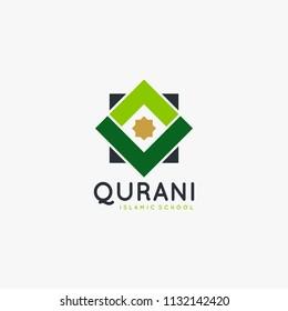 Quran islamic logo design vector