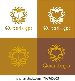 Quran Logo - Vector Illustration.