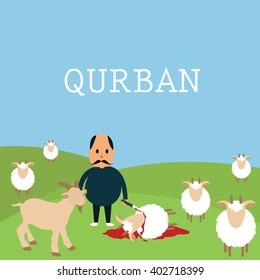 qurban sacrifice kill goat lamb in islam idul adha Udhiyyah livestock animal during Eid al-Adha