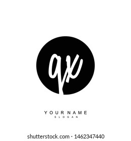 QX Initial beauty floral logo template