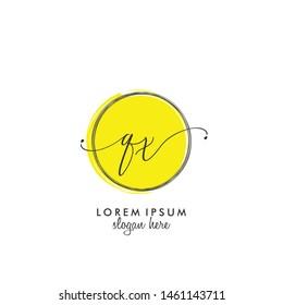 QX Initial beauty monogram logo vector