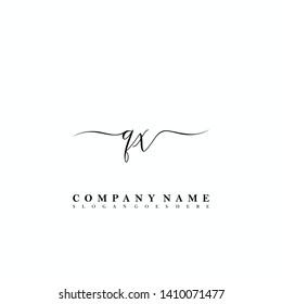 QX Initial luxury handwriting logo vector