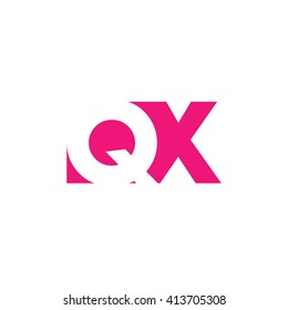 QX Logo. Vector Graphic Branding Letter Element. White Background