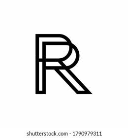 R abjad symbol letter handwriting initial double