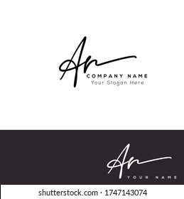 A R AR Initial letter handwriting and signature logo.