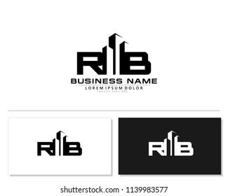 R B Initial building logo concept