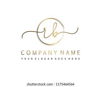 R B Initial handwriting logo vector