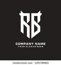 R B initial letter, modern logo design template vector