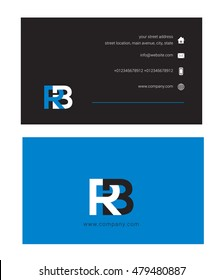 R B Letter logo vector with Business card template