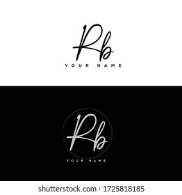 R B RB Initial letter handwriting and signature logo.