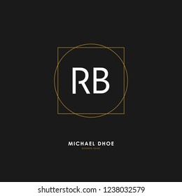 R B RB Initial logo letter with minimalist concept. Vector with scandinavian style logo.