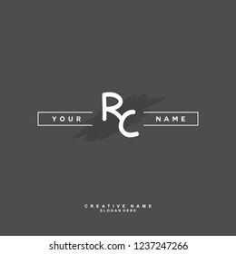 R C RC Initial logo template vector. Letter logo concept