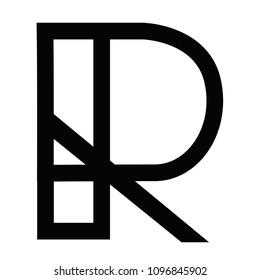 R character logo emblem