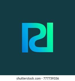 R and D Alphabet Vector Logo