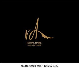 R D Initial Handwriting Logo Template