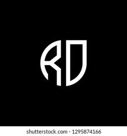 R D initial letter, modern logo design template vector