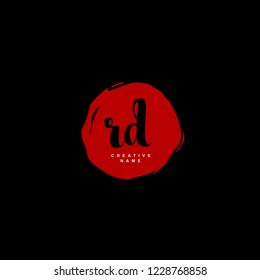 R D RD Initial logo template vector