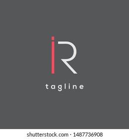 I & R double letter logo
