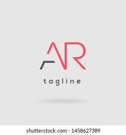 A & R Double letter logo vector design template