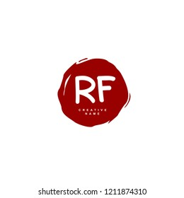 R F RF Initial abstract logo concept vector