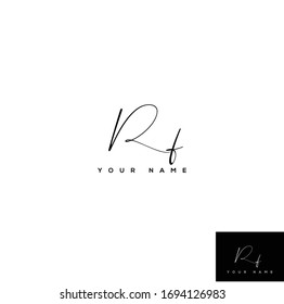 R F RF Initial letter handwriting and signature logo.