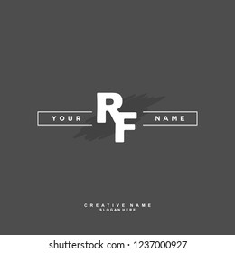 R F RF Initial logo template vector. Letter logo concept