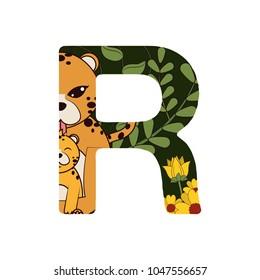 R font letter