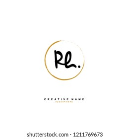 R H RH Initial abstract logo concept vector