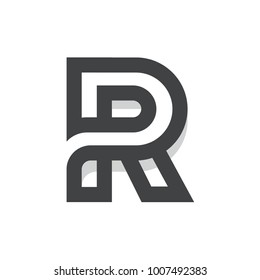 R Initial Letter Logo Template For Multipurpose uses like Agencies, Startup, Apps, & Business