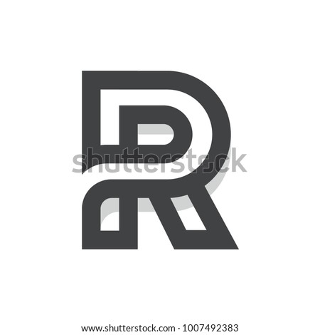 r initial letter logo template for multipurpose uses like agencies startup apps