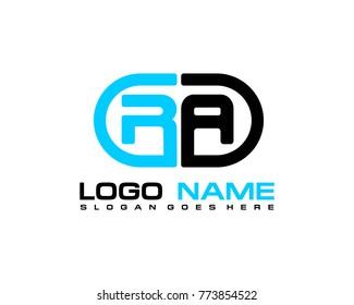 R A initial logo template vexctor