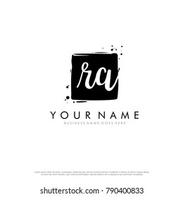 R A initial square logo template vector