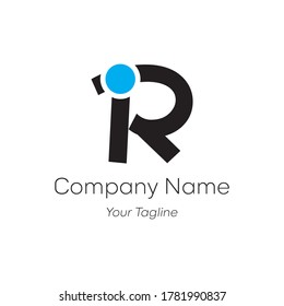 R, IR,I letter line logo design. Linear creative minimal monochrome monogram symbol. Universal elegant vector sign design. Premium business logotype. Graphic alphabet symbol for your business identity