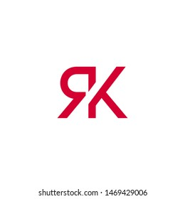 R K letter logo design