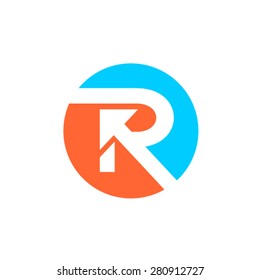 R letter concept logotype in circle