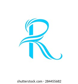 R letter curvy design