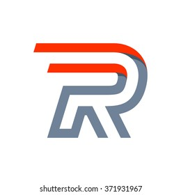 R letter fast speed logo. Vector design template elements for your application or corporate identity.