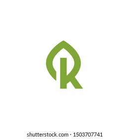 R letter forming leaf idea concpet logo design illustration inspiration. vector icon with eps10. simple, modern and unique with double meaning style logos