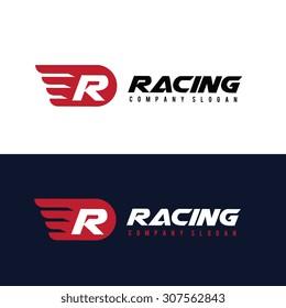 R letter Logo, Automotive car brand identity