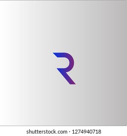 R Letter Logo Design with Creative Font