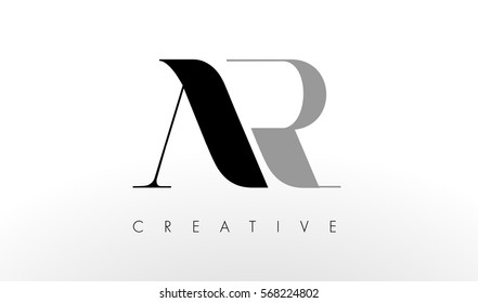 A R Letter Logo Design. Creative Modern AR Letters Icon Illustration.
