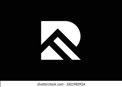 R letter logo design on luxury background. R monogram initials letter logo concept. RF icon design. FR elegant and Professional white color letter icon design on black background. R FR RF