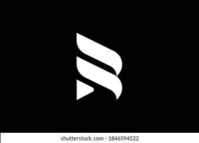 R letter logo design on luxury background. R monogram initials letter logo concept. RS icon design. SR elegant and Professional white color letter icon design on black background. R DR RD