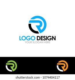 R letter Logo Design Template Vector EPS File