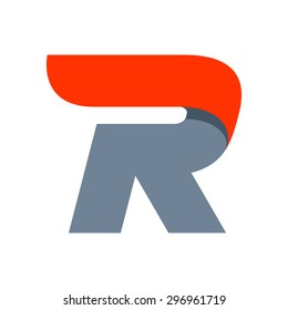 R letter logo design template. Fast speed vector unusual letter. Vector design template elements for your application or company.