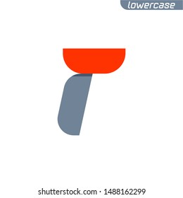 R letter logo with fast speed red flag line. Lowercase font style, vector design template elements for your application or corporate identity.