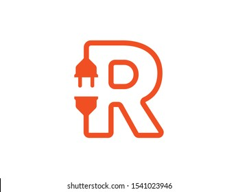 R Letter logo or symbol template
