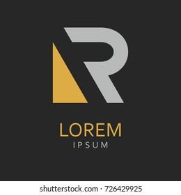 R Letter Logo. Vector Icon