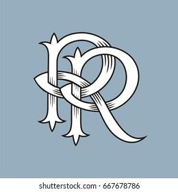 R letter monogram, vector image